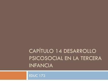 Capítulo 14 Desarrollo psicosocial en la tercera infancia