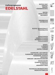 EDELSTAHL Gesamtprogramm - AALCO Metall