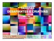TAREFAS DESAFIANTES E CRIATIVAS