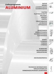 Inhalt Lieferprogramm Alum. (Page 1) - AALCO Metall