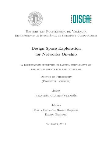 Design Space Exploration for Networks On-chip - RiuNet