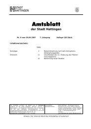 Amtsblatt - Hattingen