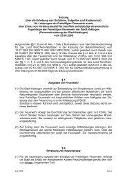 Satzung über die Erhebung von Gebühren und Entgelten - Hattingen