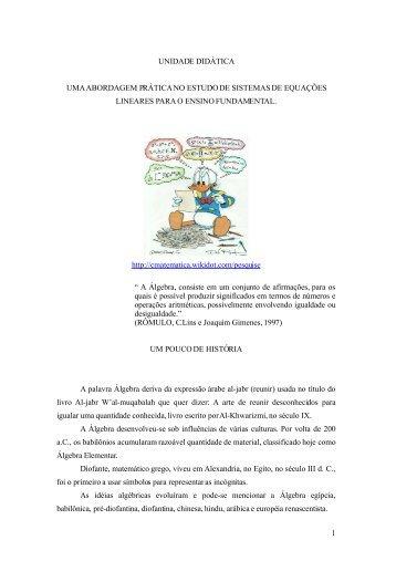 UNIDADE DIDÁTICA - Secretaria de Estado da Educação