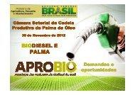 Conjuntura do Setor de Biodiesel