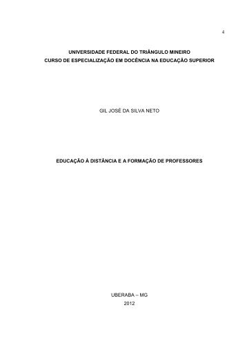 Artigo Gil Jose da SIlva Neto - UFTM