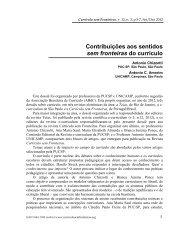 Contribuições aos sentidos sem fronteiras do currículo