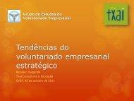 Voluntariado Estratégico 051011 Bulgarelli - Grupo de Estudos de ...