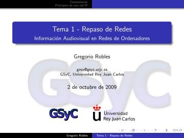 Tema 1 - Repaso de Redes - docencia de la ETSIT-URJC ...