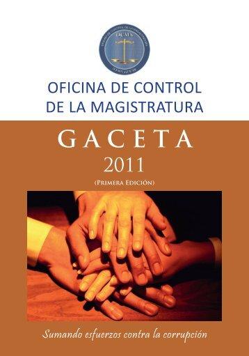 Gaceta OCMA 2011 Primera Edición - OCMA - Poder Judicial