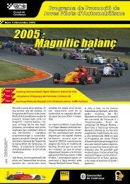 Balanç temporada 2005 - Circuit de Catalunya
