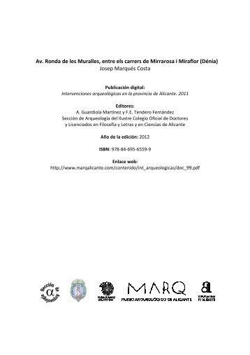 10-0464 Ronda Muralles \(Dénia\) Marqués Costa