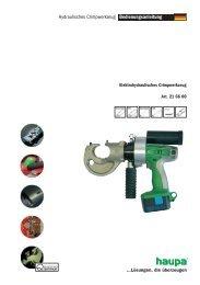 Bedienungsanleitung Hydraulisches Crimpwerkzeug - Haupa