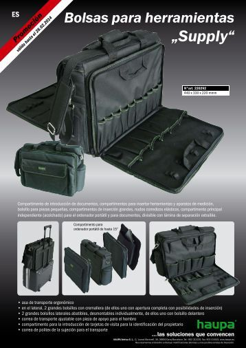 "Bolsas para herramientas ""Supply"" - Haupa"