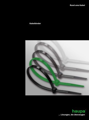 Kabelbinder, Verarbeitungswerkzeuge - Haupa