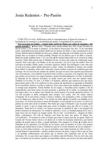 JESÚS REDENTOR - Difusión obra María Valtorta