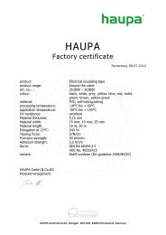Electrical insulating tape - Haupa