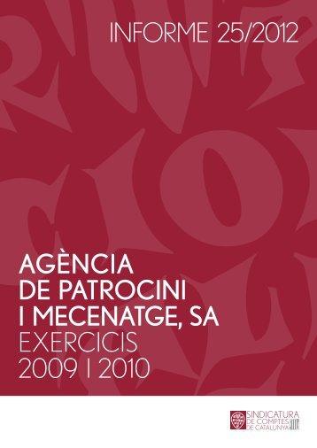 Informe 25/2012 - Sindicatura de Comptes