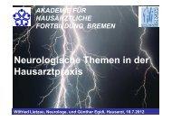 Neurologisches in der Hausarztpraxis - Hausärzteverband Bremen eV