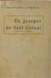 En Josepet de Sant Celoni Novel la picaresca - Institut d'Estudis ...