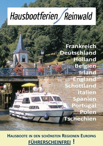 Katalog downloaden/blättern - Hausbootferien Reinwald