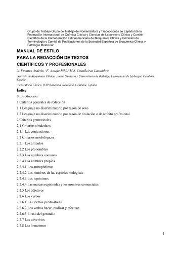 MANUAL DE ESTILO PARA LA REDACCIÓN DE TEXTOS CIENTÍFICOS Y PROFESIONALES