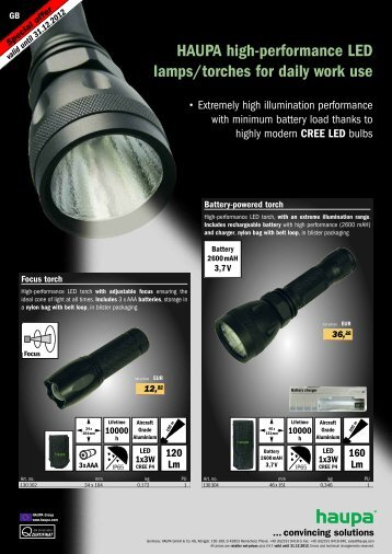 LED lamps PDF download - Haupa