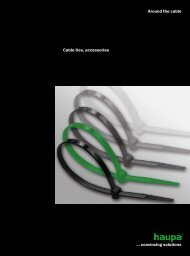convincing solutions Around the cable Cable ties, accessories - Haupa