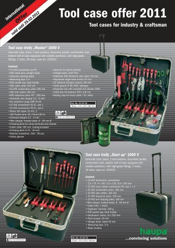 Tool case offer  2011 - Haupa