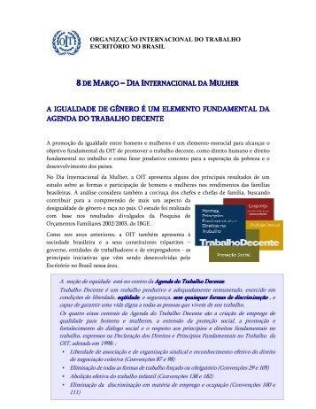 Igualdade de gênero março 2006 - OIT