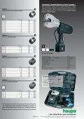 Prensaterminales hidráulicos y electro hidráulicos - Haupa - Page 6