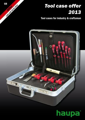 Tool case offer  2013 - Haupa