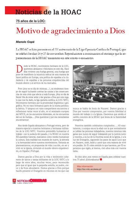 La Mundialización - Documento sin título - HOAC