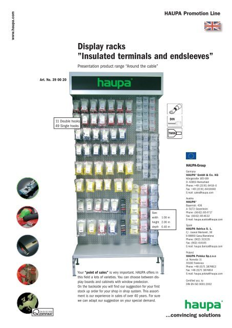 "Display racks ""Insulated terminals and endsleeves"" - Haupa"