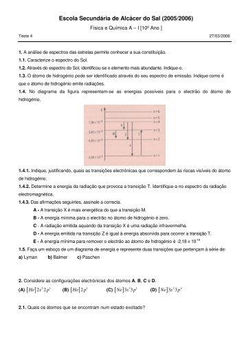 Enunciado - Física e Química? Absolutamente!