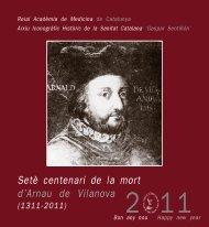 CALENDARI 2011.p65 - Acadèmia de Medicina de Catalunya