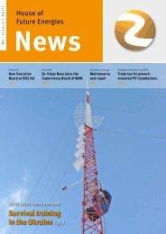Newsletter April 2010 - Haus der Zukunftsenergien