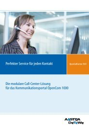 Call Center datenblatt