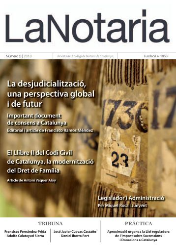 Doctrina - Col·legi de Notaris de Catalunya