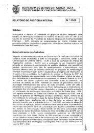 relatório de auditoria interna nº 03/09