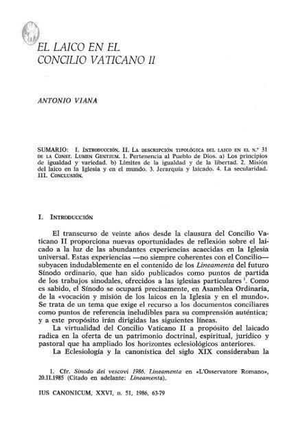 El Laico En El Concilio Vaticano Il