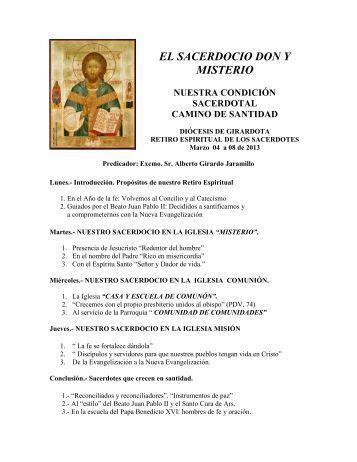 temática del retiro espiritual 2013 del clero de girardota