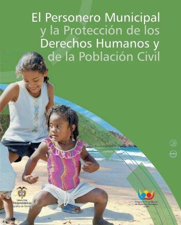 El Personero Municipal y la Protección de los Derechos Humanos y ...