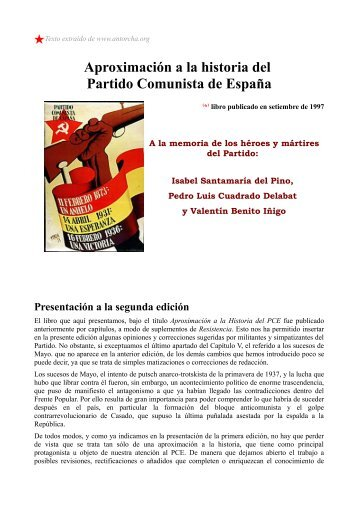 Aproximación a la historia del PCE.pdf - Biblioteca Revolucionaria