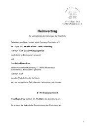 Heimvertrag - Haus Martin Luther
