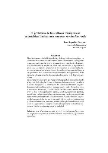El problema de los cultivos transgénicos en América Latina