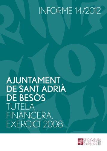 Informe 14/2012 - Sindicatura de Comptes