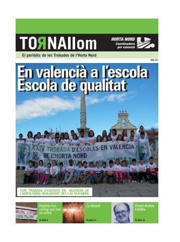10 d'Abril - BURJASSOT - l'Horta Nord - Escola Valenciana