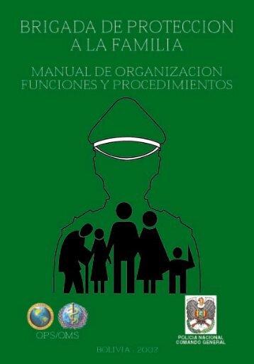 Manual de Organización Correg. - Organización Panamericana de ...
