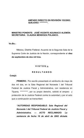 AMPARO DIRECTO EN REVISIÓN 221/2001 - SCJN